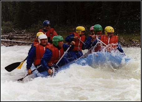 White water rafting in Canada